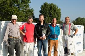 Das Baustellenteam mit Norman & Dirk Heier