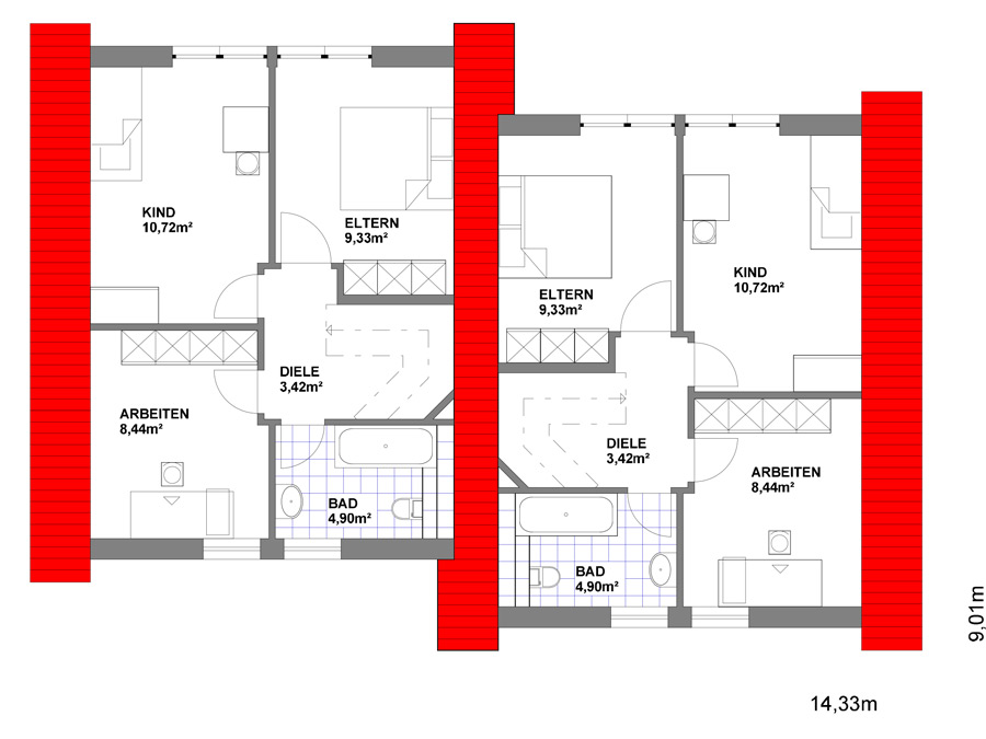 doppelhaus generationshaus roland heier bauunternehmung. Black Bedroom Furniture Sets. Home Design Ideas