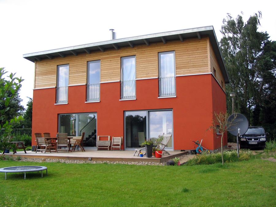 Modernes Haus. Beispiel Grundriss Dachgeschoß 92,84qm